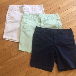 3 pair of J Crew shorts Frankie size 8